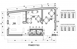 The layout of a store plan detail dwg file.