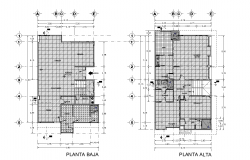 The layout of one house plan detail dwg file,