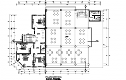 The layout of second floor plan detail detail dwg file,