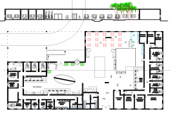 The layout of the urban market plan detail dwg file.