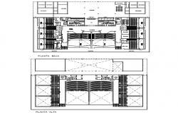 Theater Floor Plan DWG File