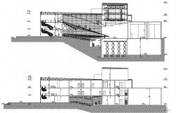 Theater Building Plan DWG File