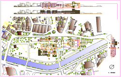 Theater design with  landscape view and elevation view dwg file