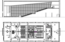 Theater plan and section detail dwg file