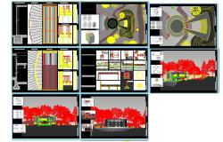 Theater plan detail dwg file