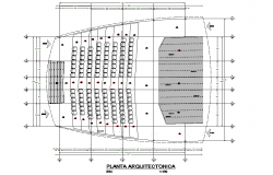 Theater room plan detail dwg file