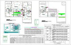 Third floor and ceiling electrical plan with lighting installation view for housing design dwg file