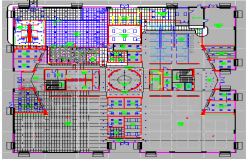 Third floor layout plan details of corporate office building dwg file