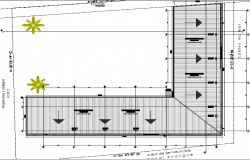 Third floor layout plan details of shopping mall dwg file