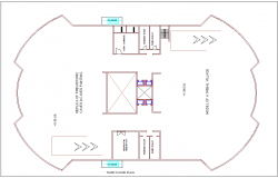 Third floor plan of heritage museum dwg file