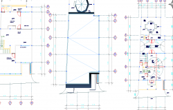 Three floor layout plan dwg file