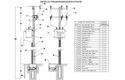 Three phase transformer pole autocad file
