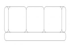 Three seater  sofa details