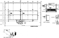 Tie beam section detail dwg file