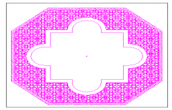 Tile design in fountain of garden dwg file