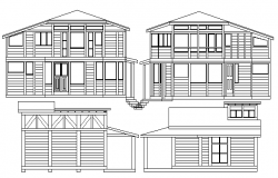 Tiny House Architecture Design and Elevation dwg file