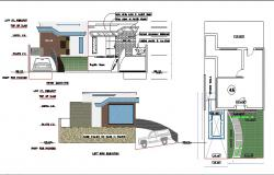 Tirupati natural park out-house elevation, section and auto-cad details dwg file
