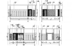 Toilet Design Section AutoCAD Drawing