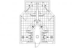 Toilet Floor Plan DWG File