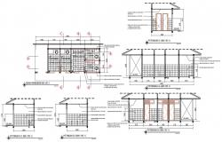 Toilet Plan And Section Drawing AutoCAD File