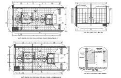 Toilet Plan Autocad Drawing