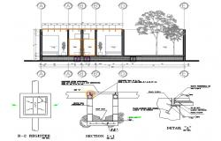 Toilet With Drainage Chamber Plan