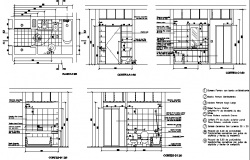 Toilet and bathroom installation details of one family house dwg file