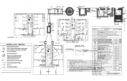 Toilet detail and electrical plan detail dwg file