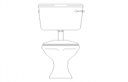Toilet detail elevation 2d view CAD block layout file