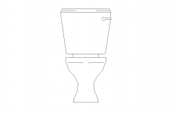Toilet detail elevation 2d view elevation layout file