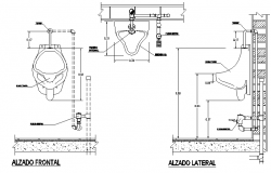 Toilet installation details of corporate office dwg file