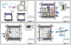 Toilet interior and installation of house dwg file
