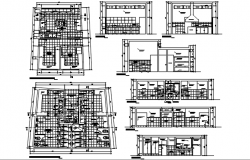Toilet plan and elevation working plan detail dwg file