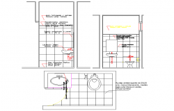 Toilet plan and section autocad file