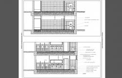 Toilet section and installation cad drawing details dwg file