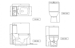 Toilet wc details with all sections