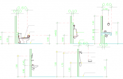 Toilet with Sanitary ware detail dwg file