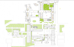 Top View of Club House dwg file