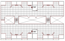 Top floor layout plan details of residential building dwg file