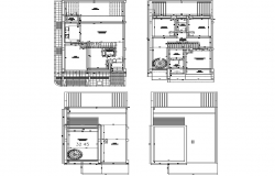 Top view architectural layout plan
