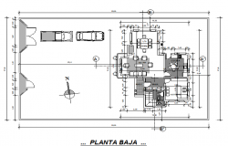 Top view architectural layout plan of office