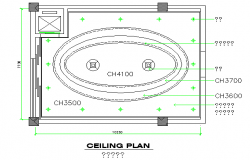 Top view ceiling plan layout