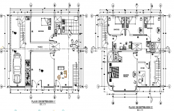Top view layout plan of  house