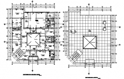 Top view layout plan of construction plan