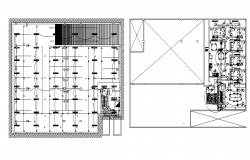 Top view layout plan of electric dwg file