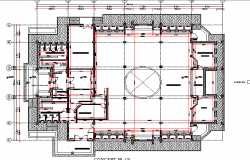 Top view layout plan of mosque dwg file