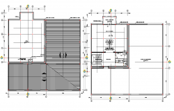 Top view layout plan of office flooring dwg file