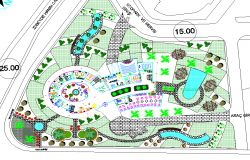 Top view of Resort layout plan