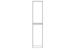 Top view of double door wardrobe design dwg file