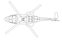 Top view of helicopter details